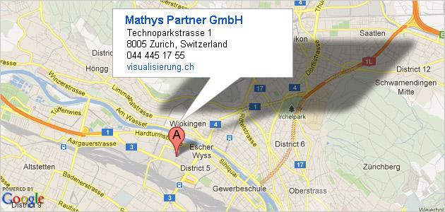 Mathys Partner Visualisierung: Lageplan